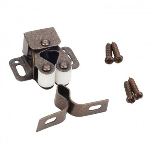 Details About Hardware Resources RC01 Double Roller Catch For Cabinet Doors    Single   Bronze