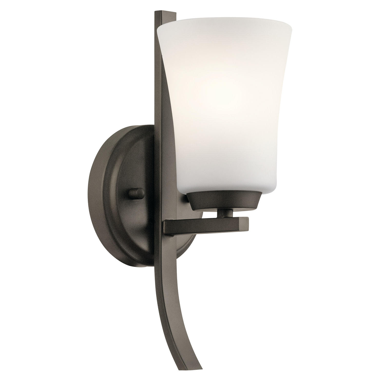Details About Kichler 45888oz Tao 1 Light 5 Wide Bathroom Sconce Olde Bronze