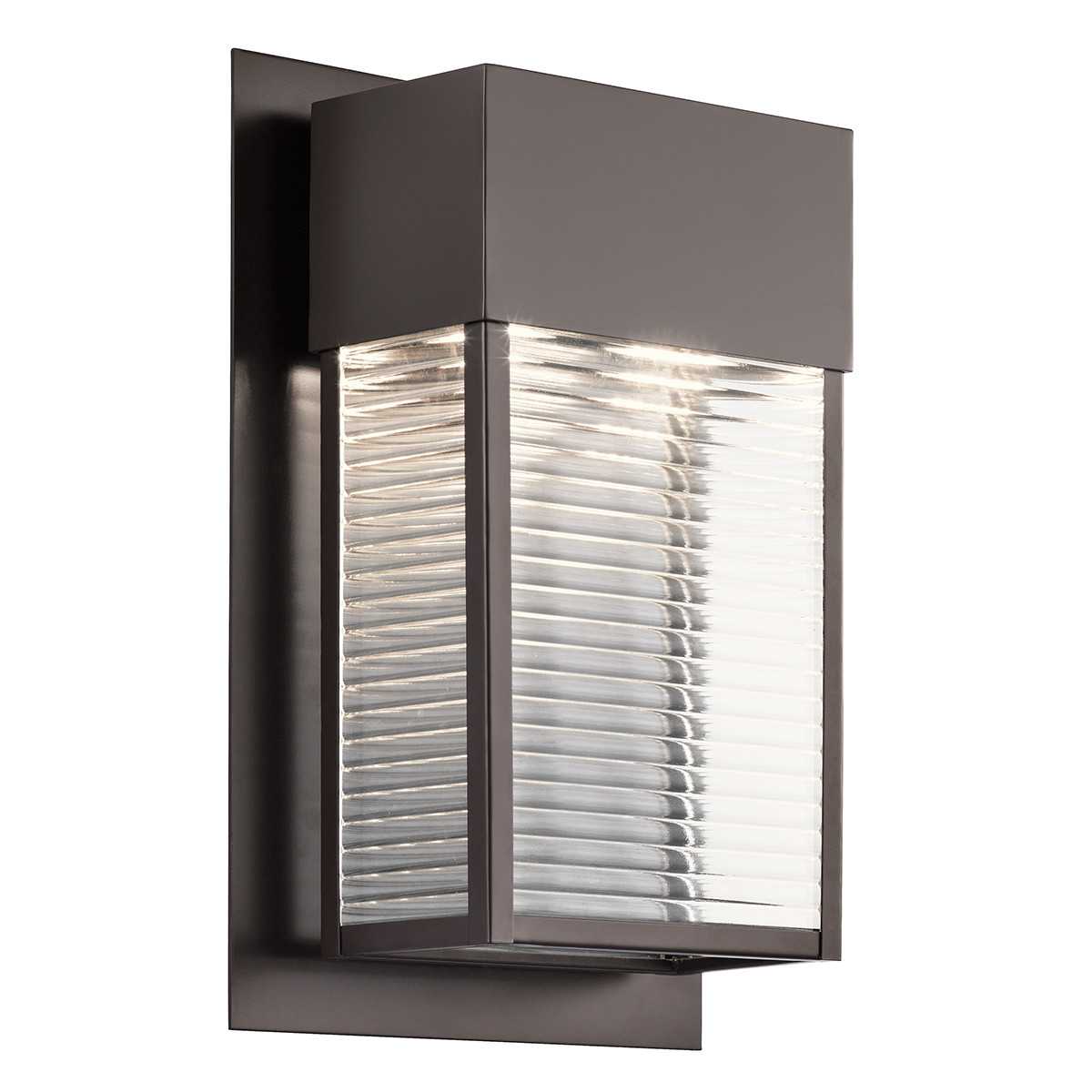 Details About Kichler 49190azled Sorel Led Outdoor Wall Sconce Architectural Bronze