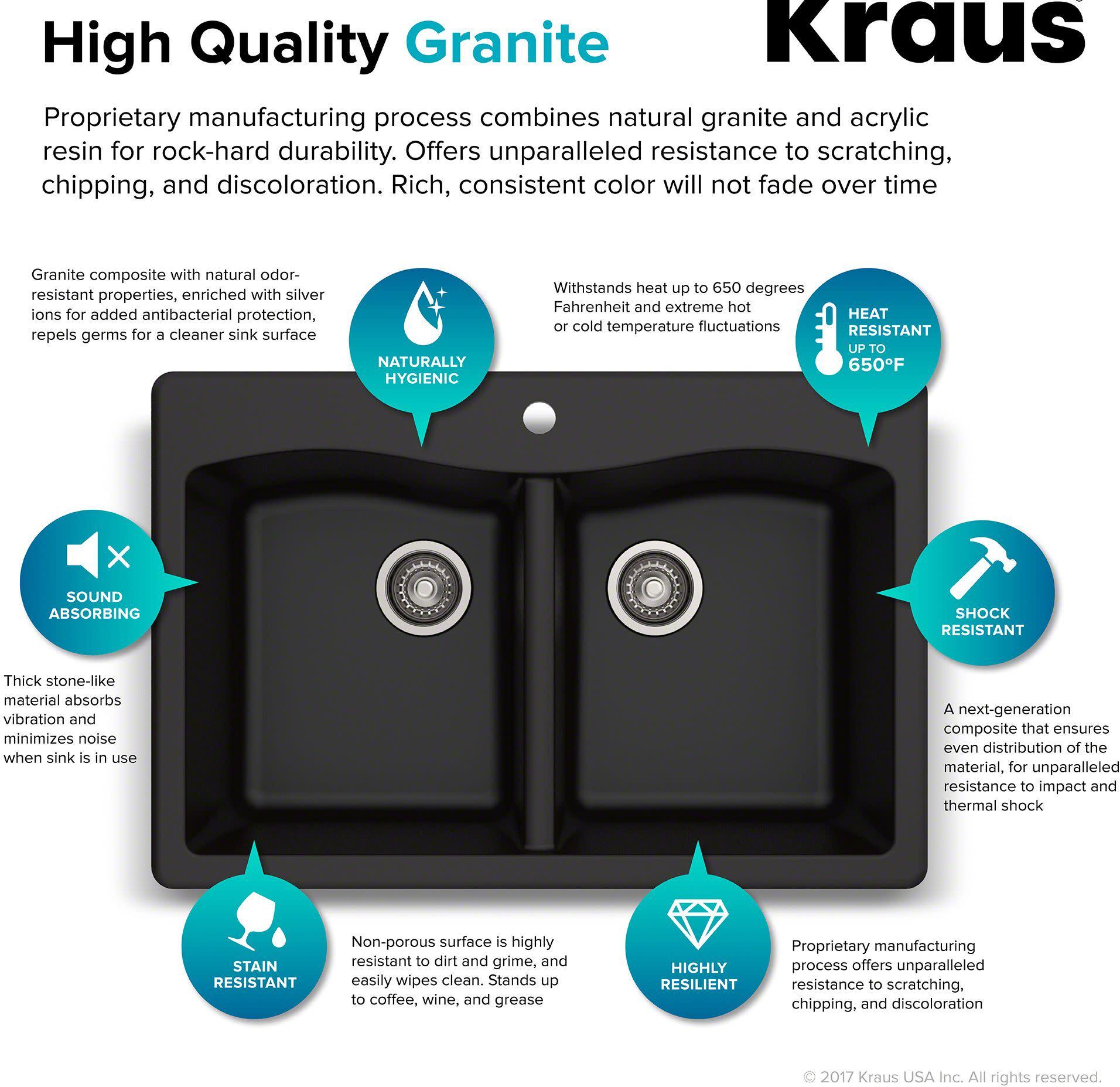 Kraus Kgd 52 Forteza 33 Quot Composite Granite Kitchen Sink