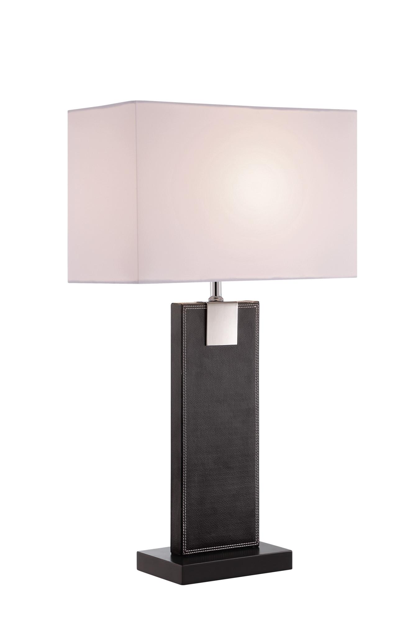 "Lite Source LS-23212  Charna Single Light 17-1//2/"" Tall Buffet Table Lamp Black"