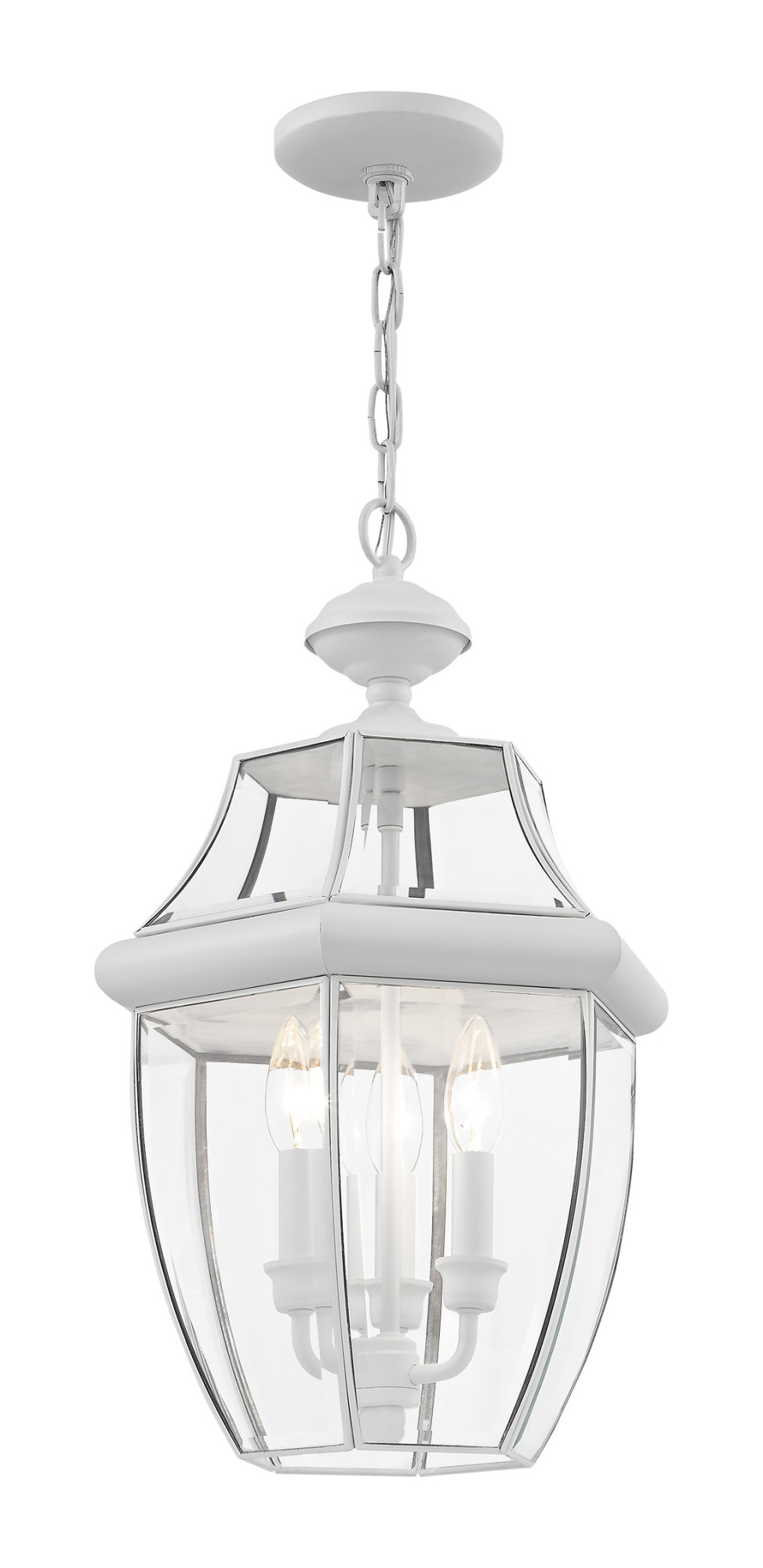 White 12Dia 2351-03 Outdoor Lighting Livex Exterior Wall Light Monterey Lamp