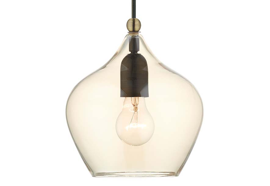 Hinkley Lighting 3123 Bronze 1-Light Pendant From The Amelia Collection