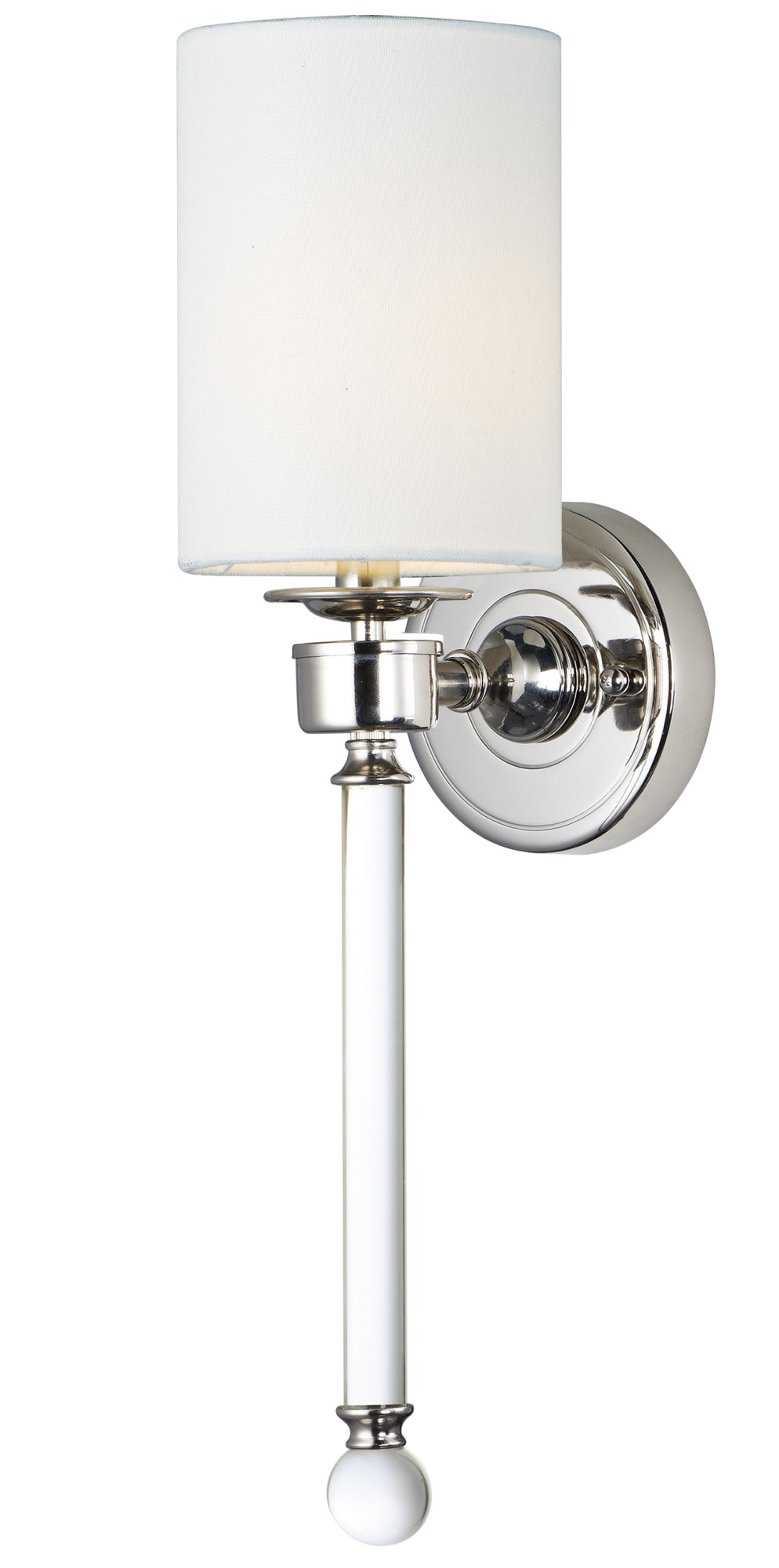 """Maxim 16109WT Nickel Lucent 21"""" Wall Sconce With Fabric ..."""