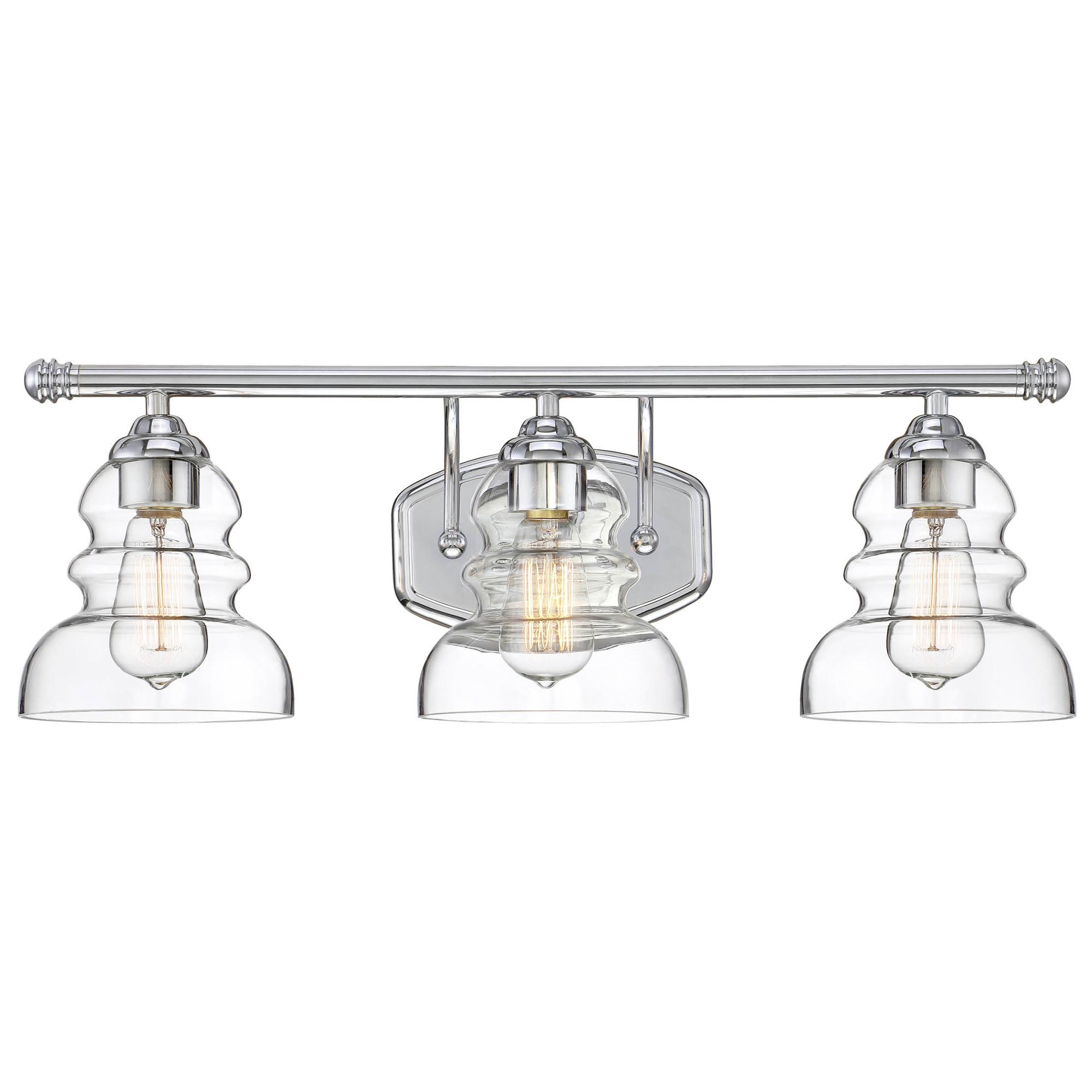 Details About Millennium Lighting 7333 Brighton 3 Light 24 W Bathroom Vanity Chrome
