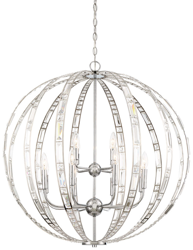 Minka Lavery 2379 Palermo 12 Light 32 Wide Taper Candle Chandelier