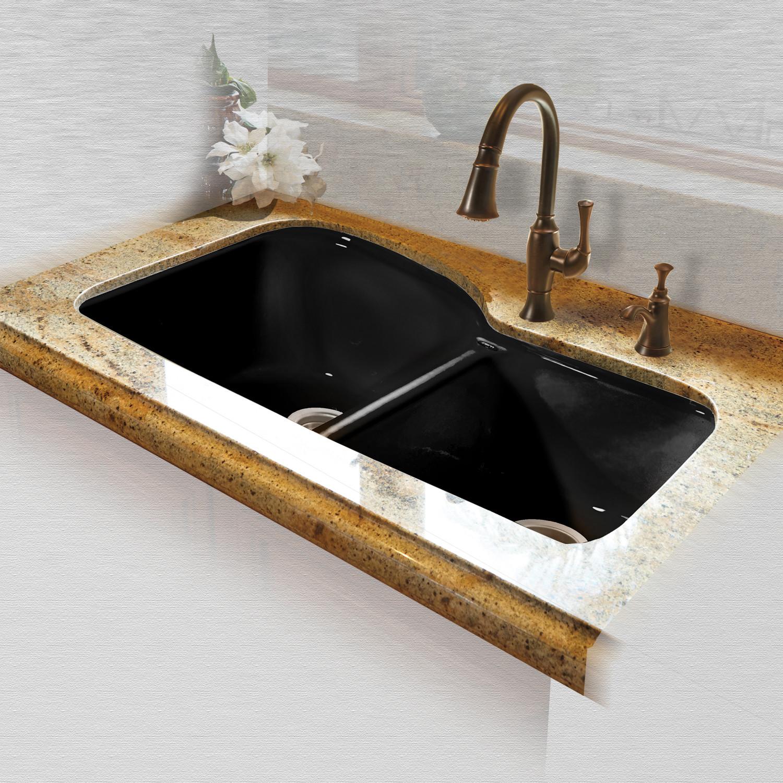 Split Kitchen Black Sinks on 24 bathroom vanity with sink, 24 x 16 sink, copper bowl sink, hammered copper farmhouse sink, cast iron undermount double sink, 70 30 undermount stainless steel sink,