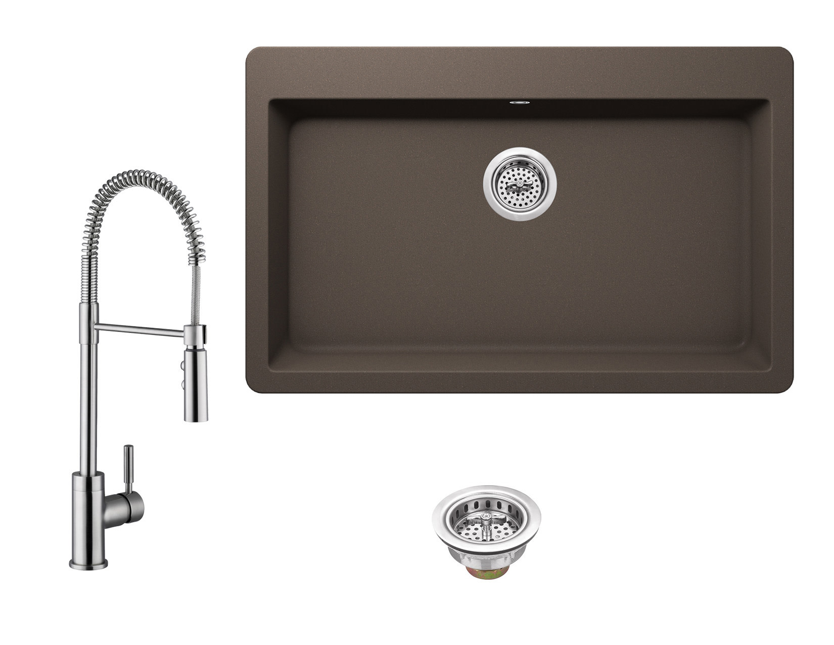 Details About Miseno Mgr3321 Mk6557 33 Drop In Single Basin Granite Composite Kitchen Sink Wi