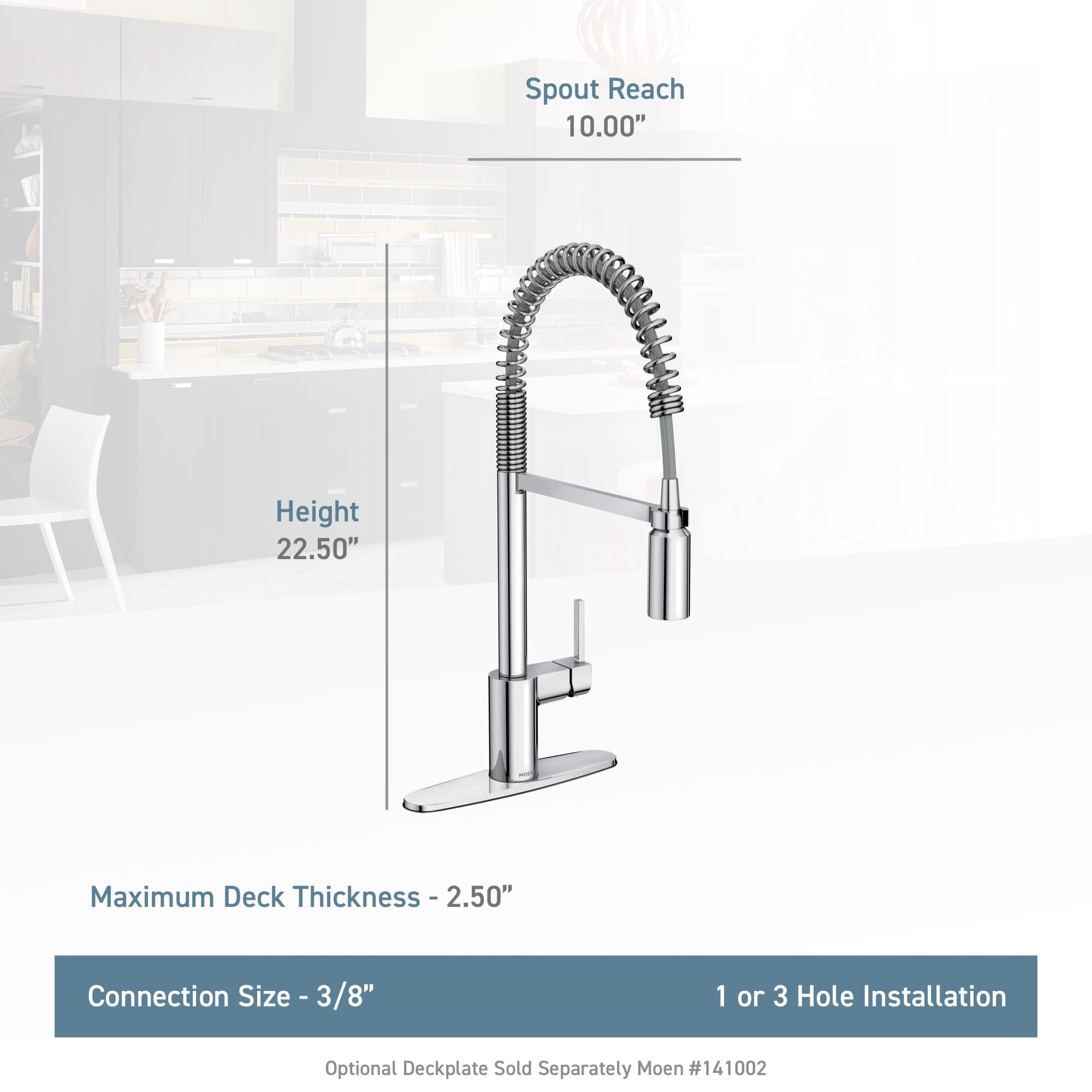 Details about Moen 5923 Align 1.5 GPM 1 Hole Pull Down Kitchen Faucet -  Spot Resist Stainless