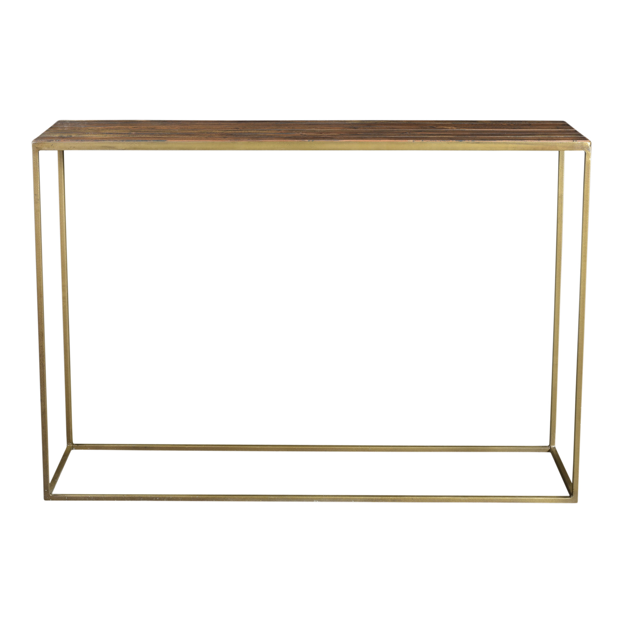 Moes Home Collection Dr 1302 Meadow 44 Wide Wood Top Iron Console