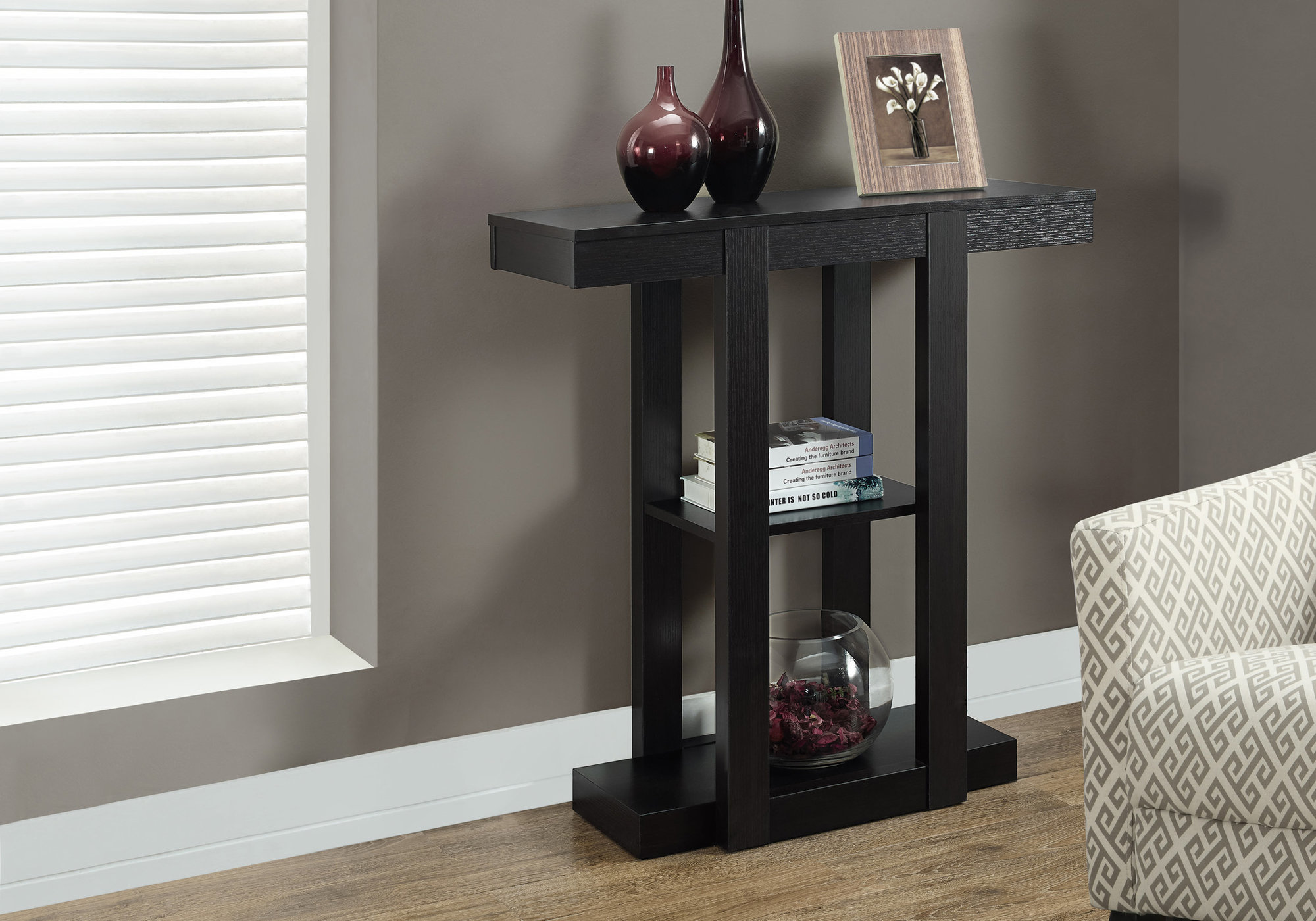 Details About Monarch Specialties I 2454 31 W Contemporary Hall Console Table Cappuccino