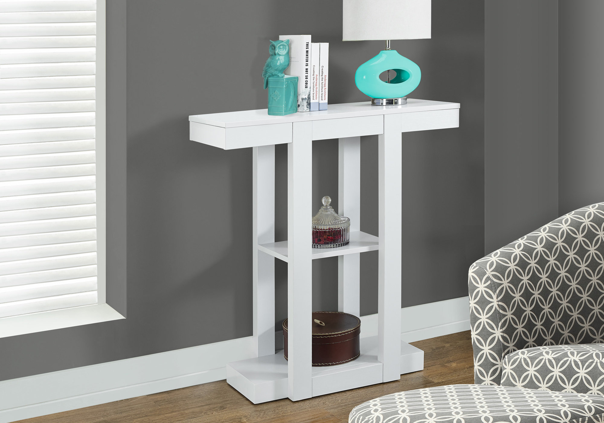 Details About Monarch Specialties I 2455 31 W Contemporary Hall Console Table White