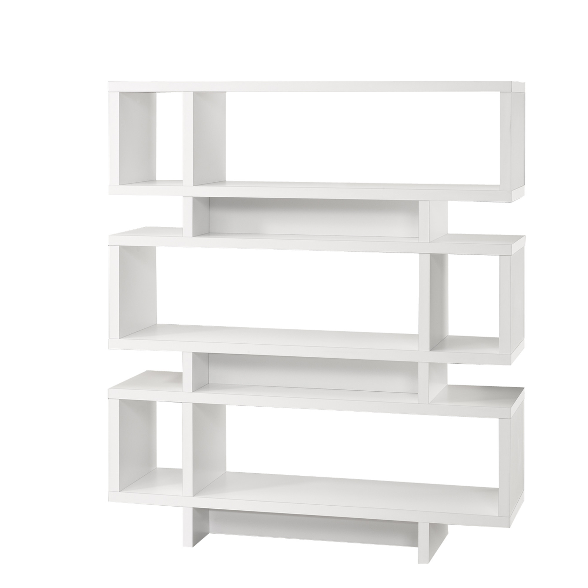 Details About Monarch Specialties I 2532 48 W Modern Open Back Bookcase White