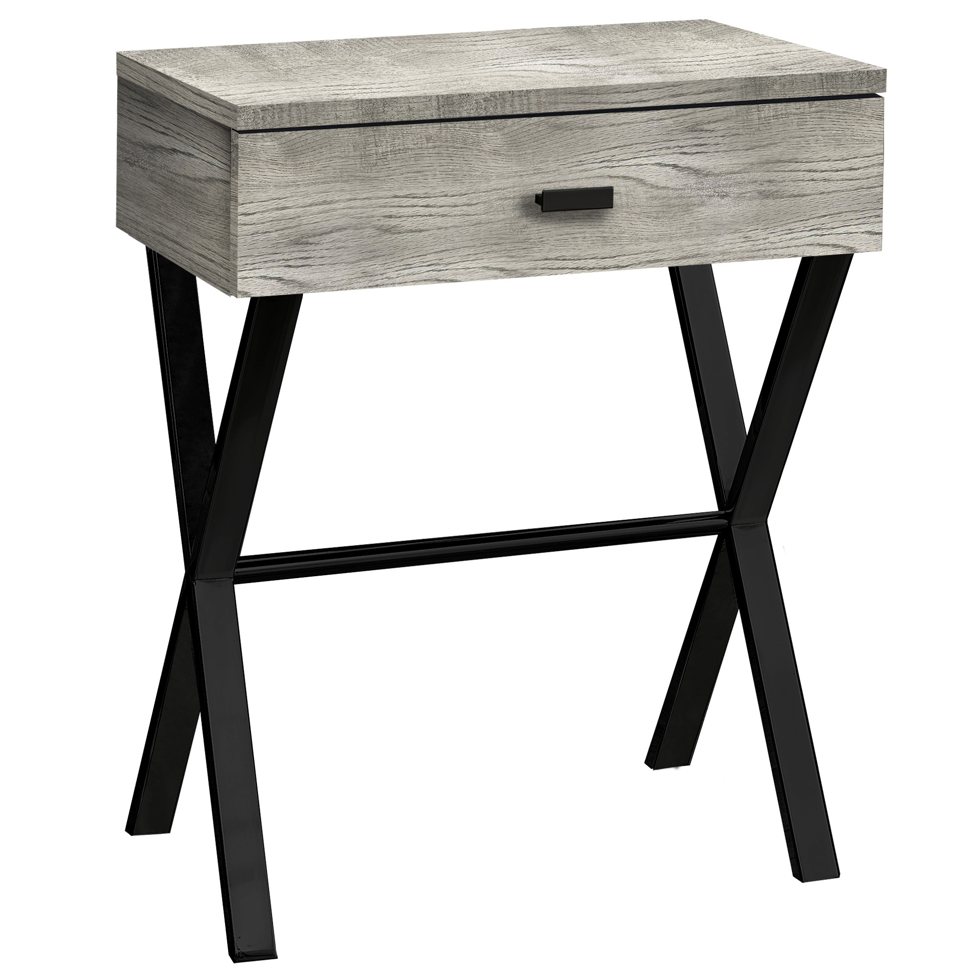 Details About Monarch Specialties I 3450 18 1 4 L Wood Top Laminate And Metal Black Grey