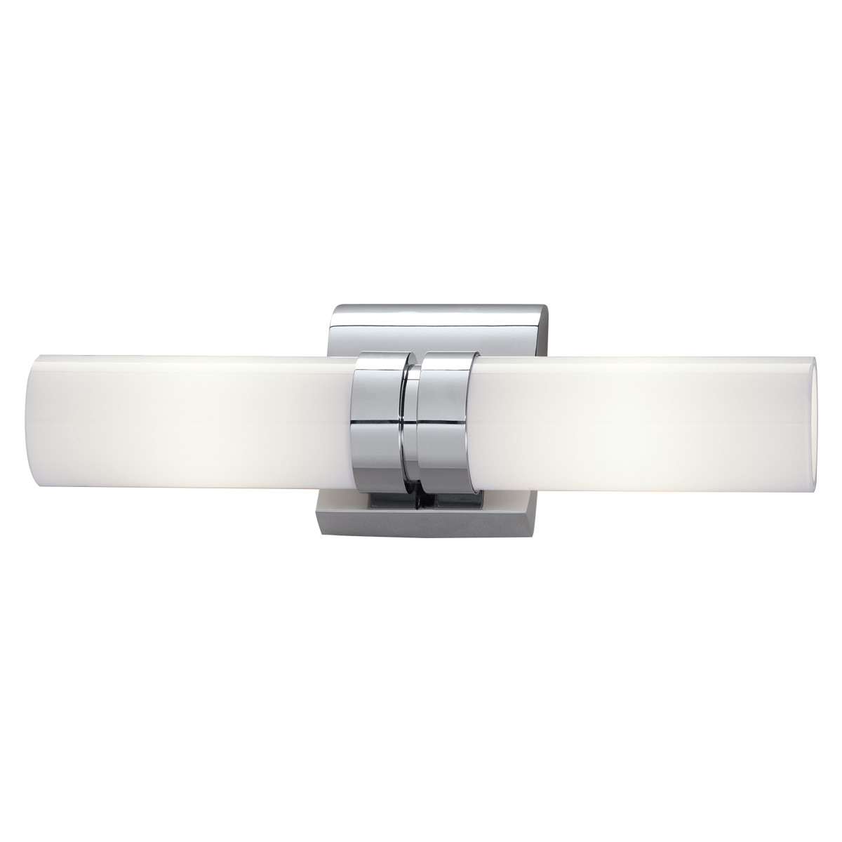 Details About Norwell Lighting 8902 Wave 6 Tall 2 Light Bathroom Bath Bar With White Gl