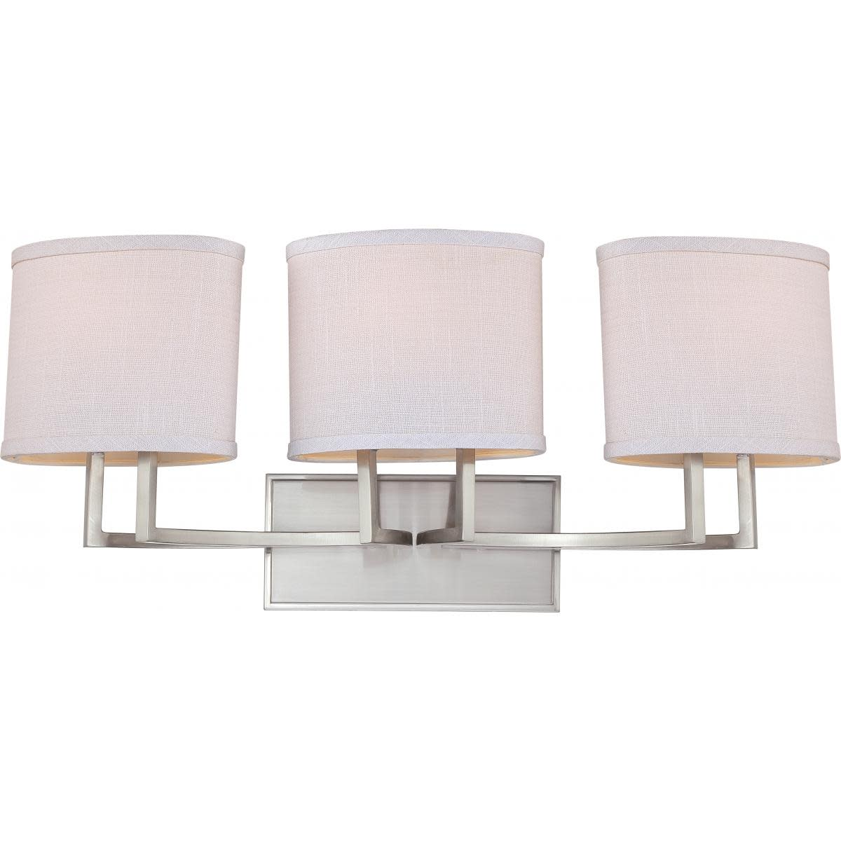 Nuvo Lighting 60 4753 Gemini 3 Light 27 1 4 W Bathroom Vanity Nickel 45923647536 Ebay