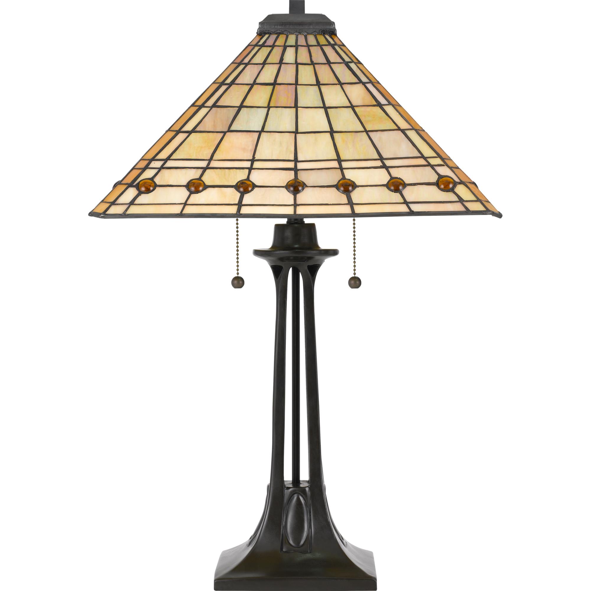 Quoizel Tf3335 Tiffany 2 Light 25 3 4 Tall Tiffany Table Lamp With
