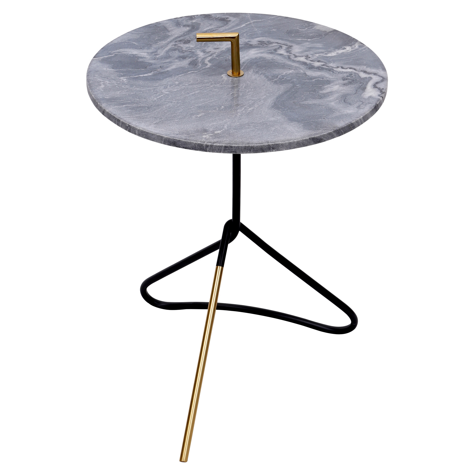 Ren Wil Ta180 Concord 16 1 2 Diameter Marble Top Accent Table