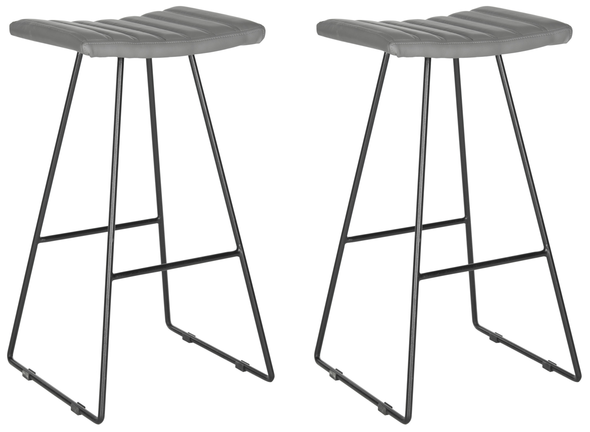 Surprising Details About Safavieh Fox2010 Set2 Akito 16 5W Plywood Bar Stools Set Of 2 Black Grey Cjindustries Chair Design For Home Cjindustriesco