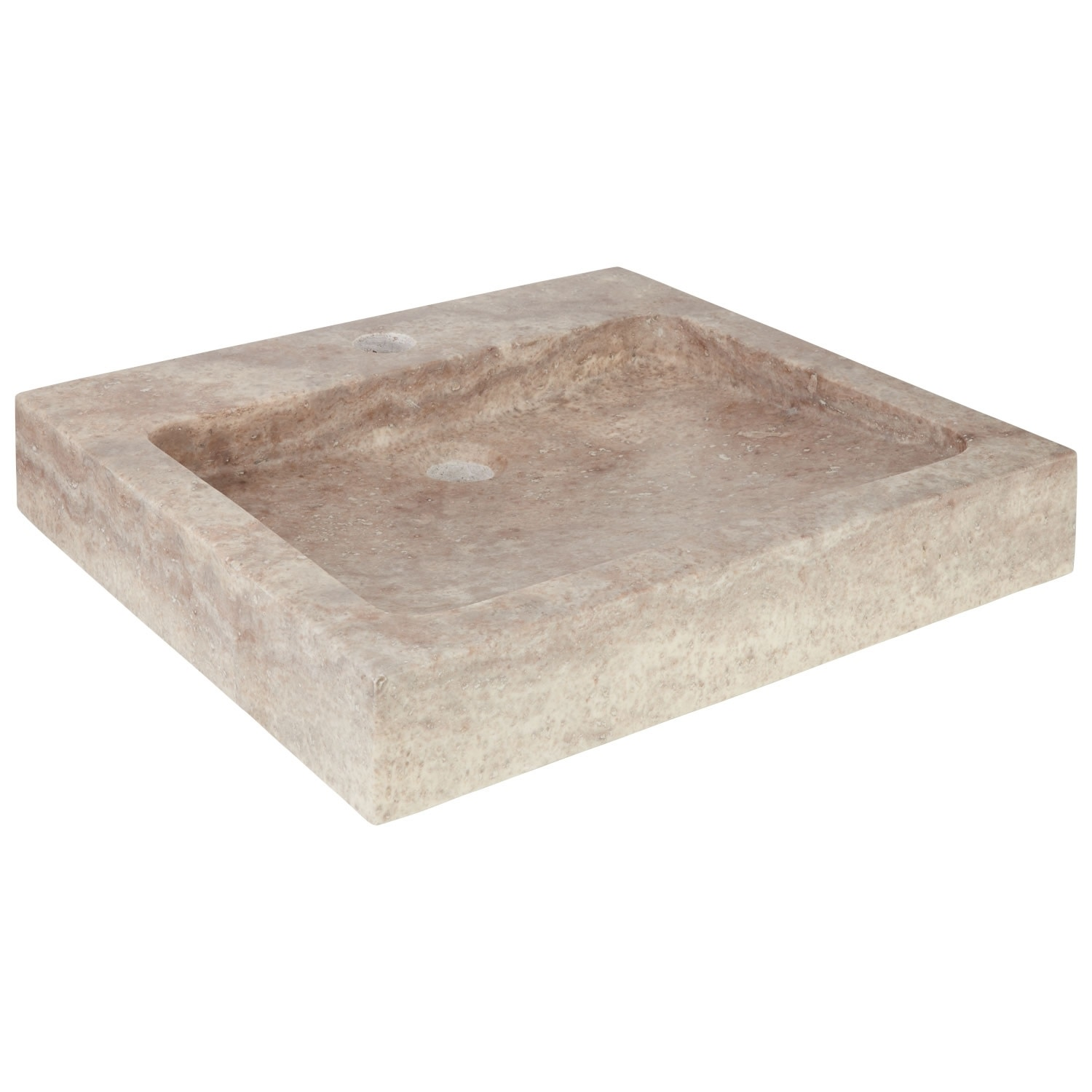 "thumbnail 18 - Signature Hardware 231915 20"" Square Polished Travertine Vessel"
