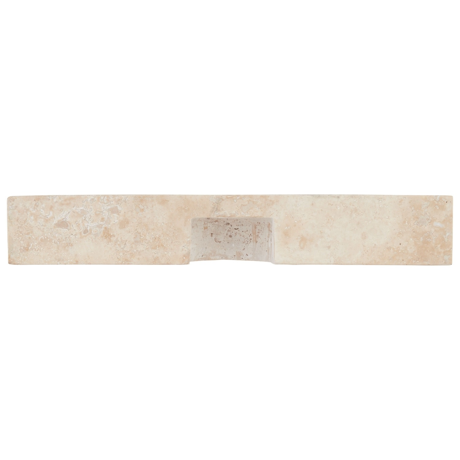 "thumbnail 20 - Signature Hardware 231915 20"" Square Polished Travertine Vessel"