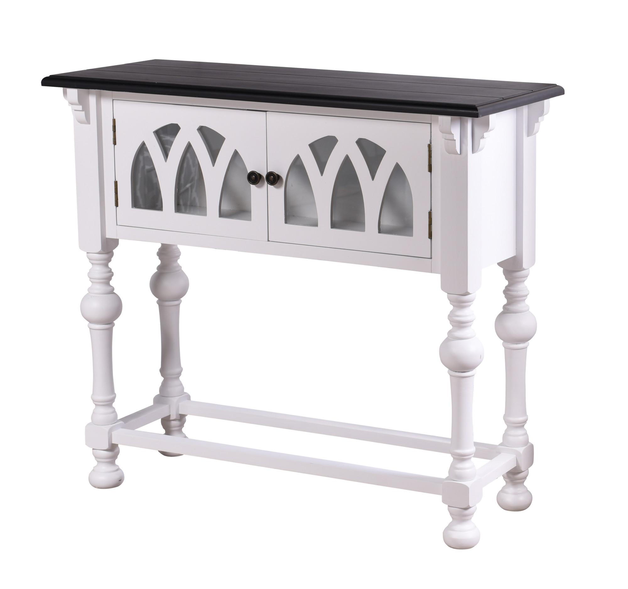 """48/"""" Long Wood Console Table StyleCraft SC-AF17730  Church St Black//Grey"""