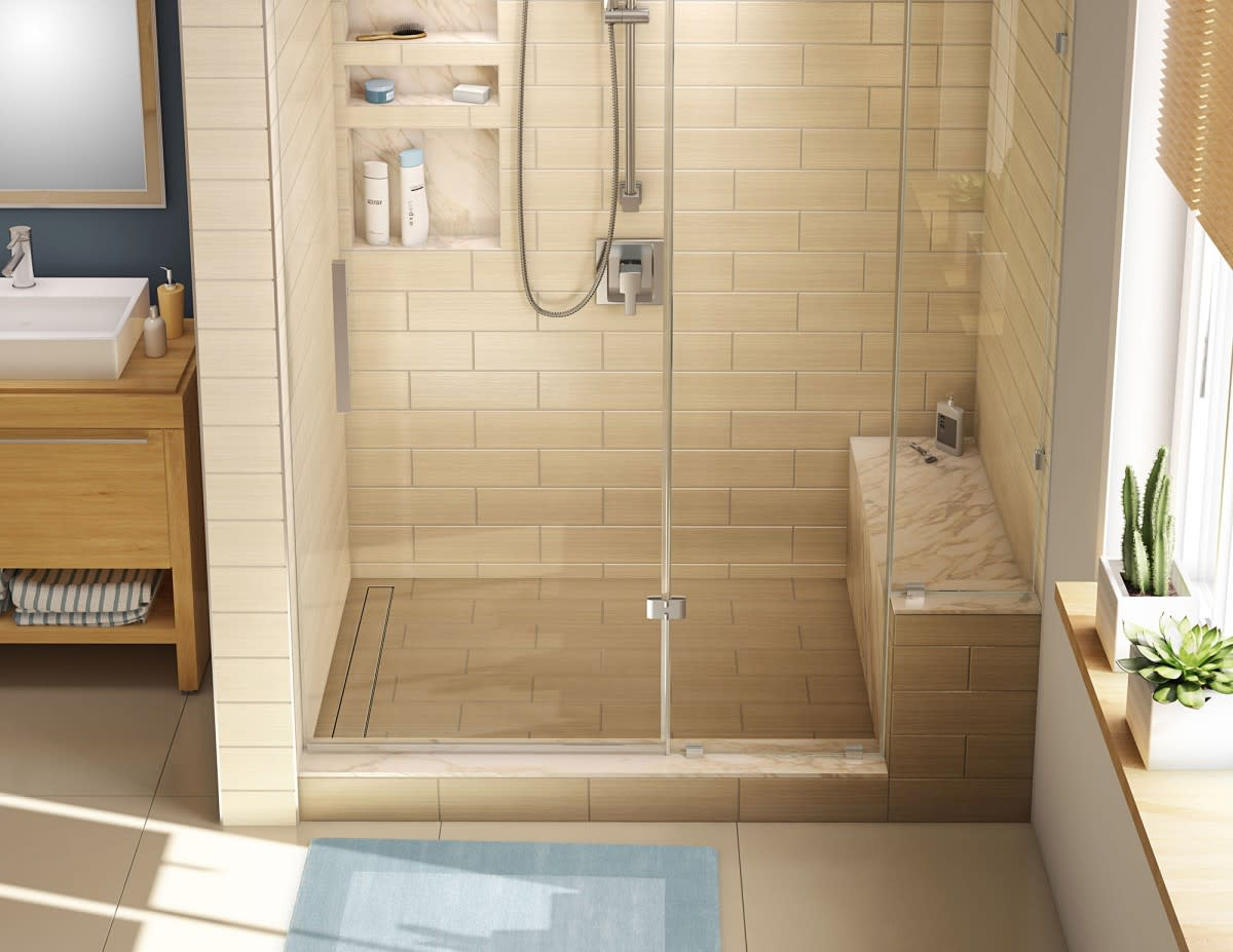 Shower Pan With Corner Bench.Details About Tile Redi Rt3048l Rb30 Kit 30 X 60 Corner Shower Pan With Single Curb Bench