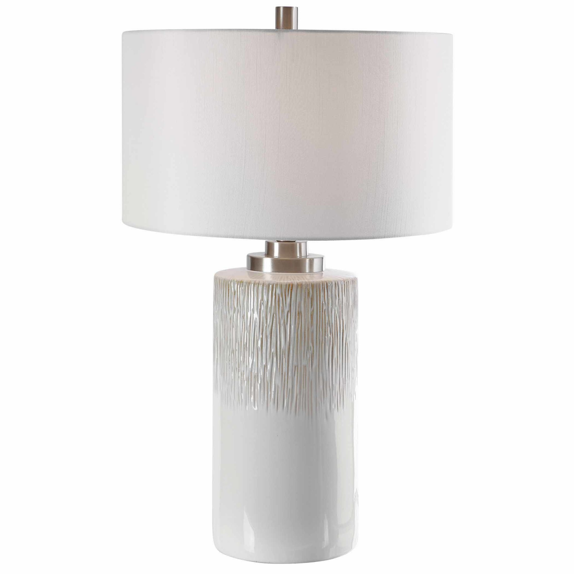 Uttermost 26354 1 Georgios 29 Tall Vase Table Lamp White Ebay