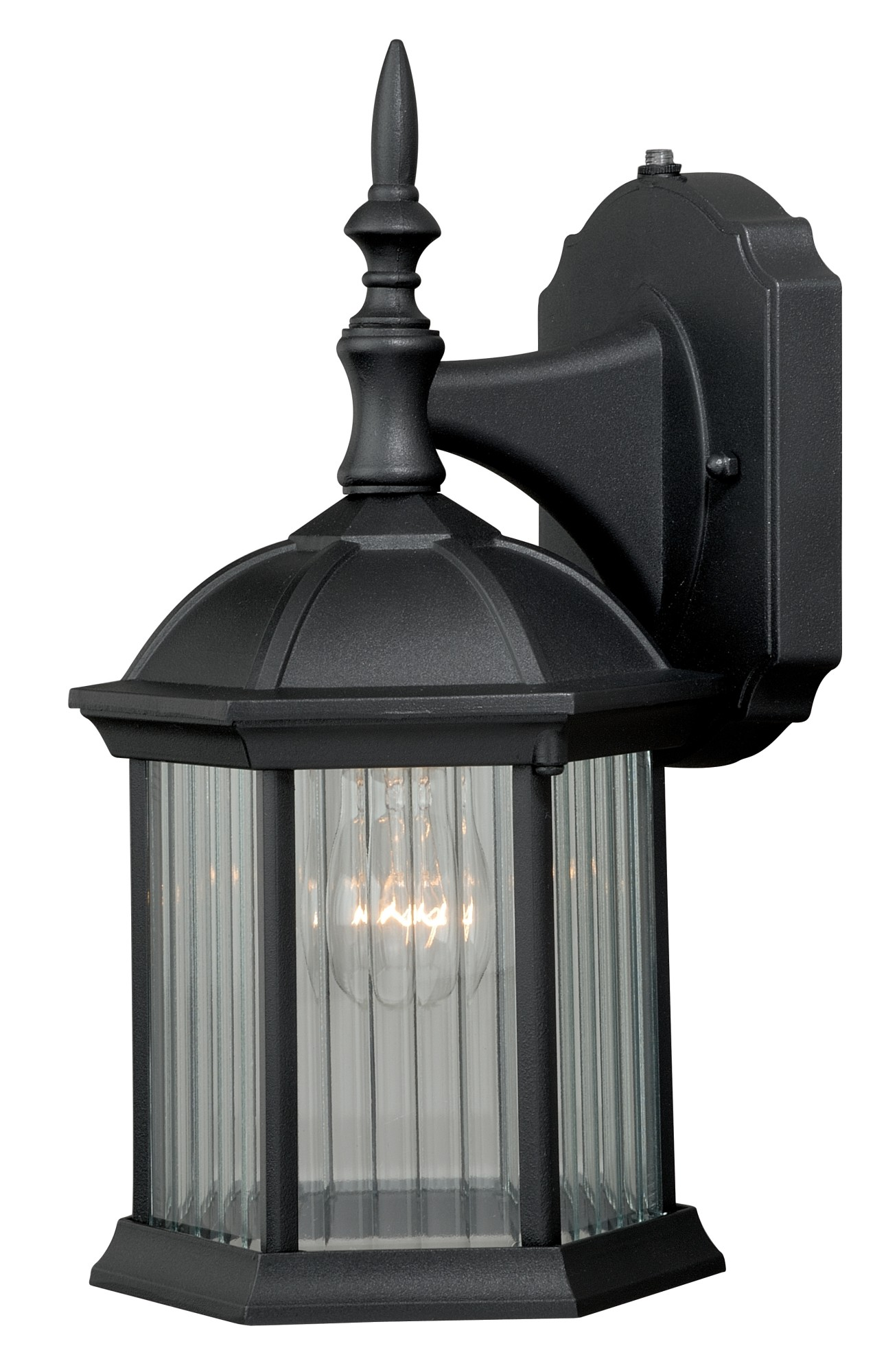 Vaxcel lighting t0130 kingston 1 light 5 wide outdoor wall sconce with photocel