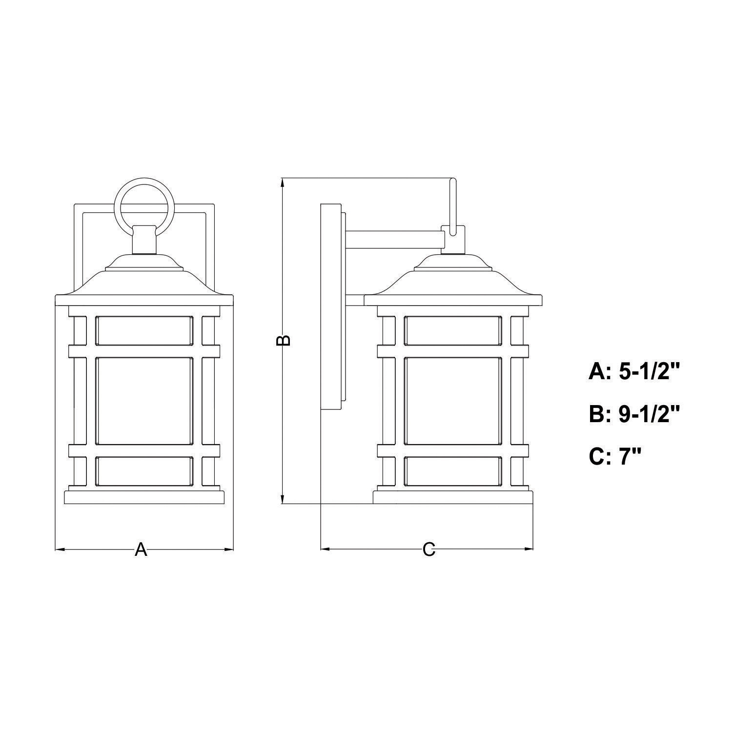 """Vaxcel Lighting T0517 Southport 10"""" Tall Outdoor Wall"""