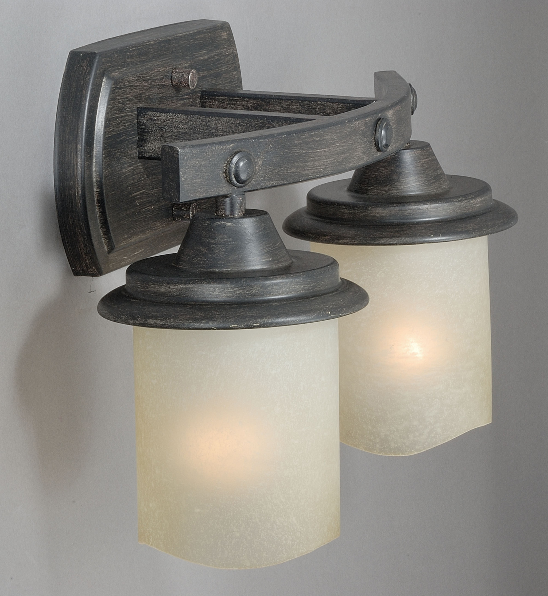 Vaxcel lighting w0182 halifax 2 light wall sconce with cylinder shaped frosted g