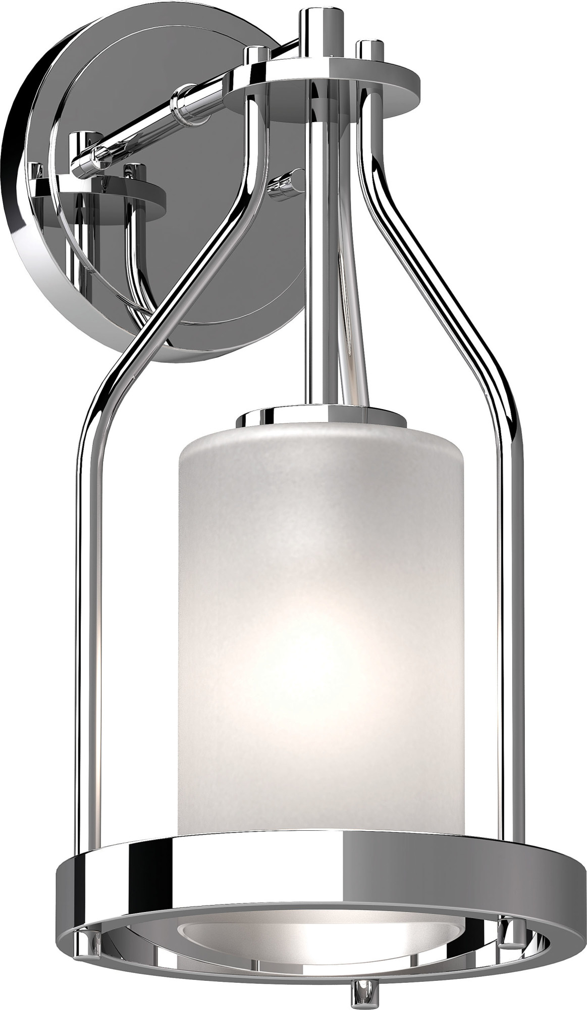Volume Lighting 4741 Emery Single Light 14 Tall Bathroom Sconce With Frosted Gl