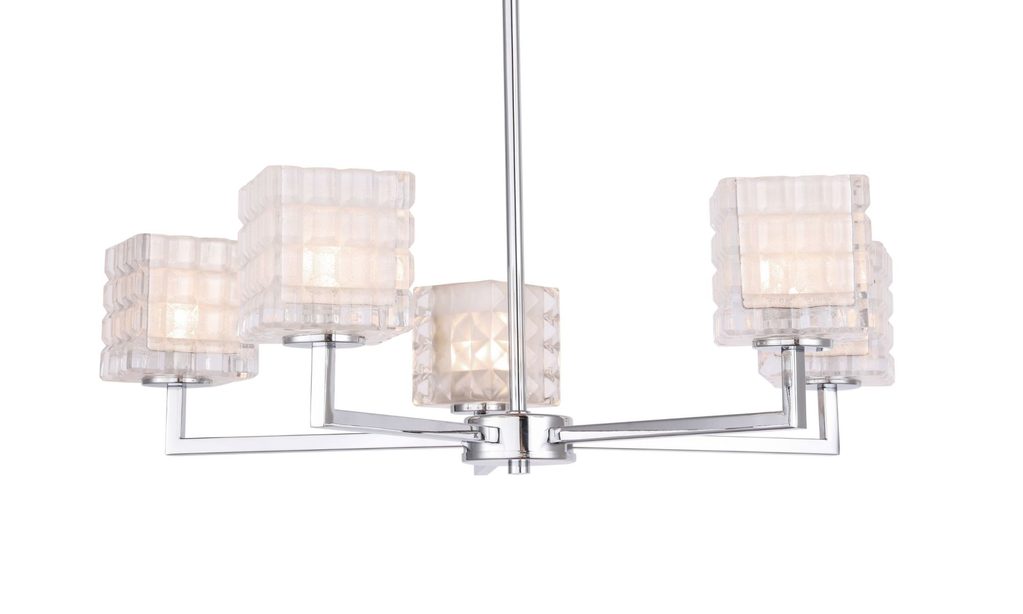 Details About Woodbridge Lighting 18615 Candice 5 Light 24 Wide Chandelier Chrome Grid