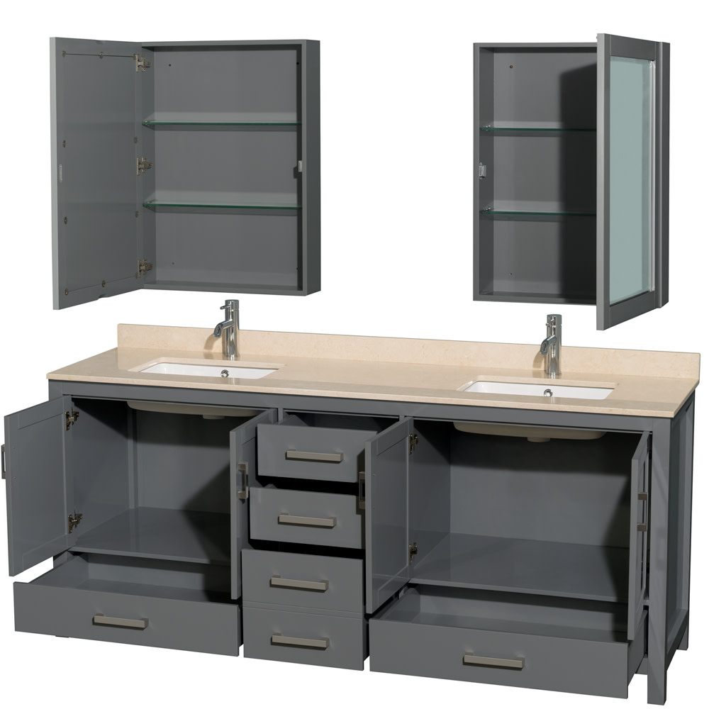 Wyndham-Collection-WCS141480DUNSMED-Sheffield-80-034-Freestanding-Vanity-Set-with thumbnail 5