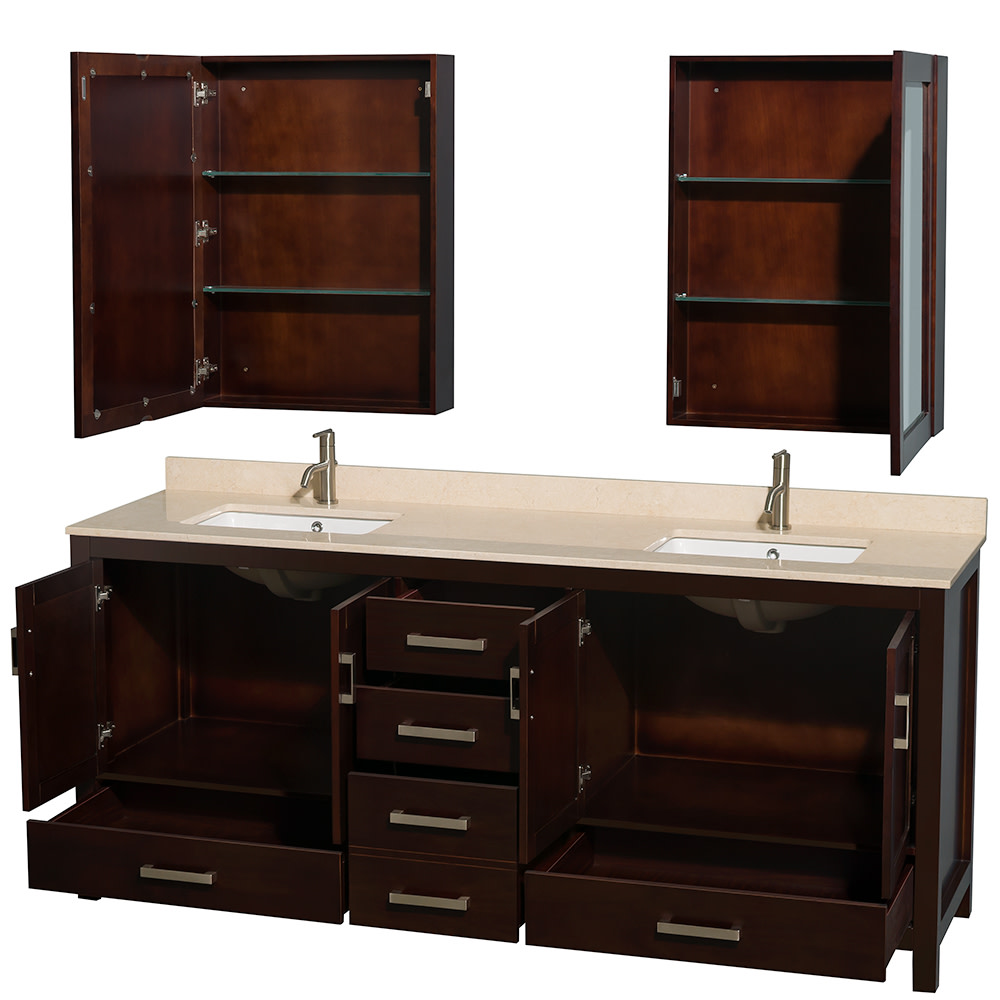 Wyndham-Collection-WCS141480DUNSMED-Sheffield-80-034-Freestanding-Vanity-Set-with thumbnail 9