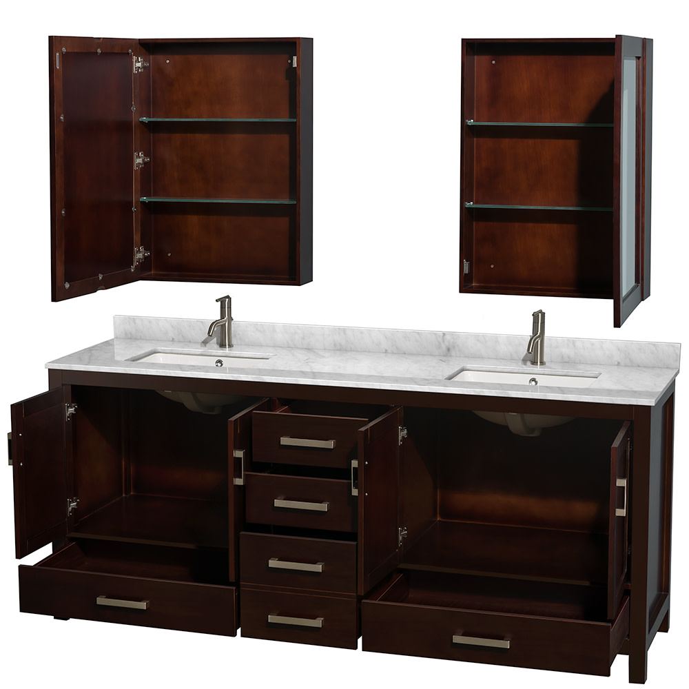 Wyndham-Collection-WCS141480DUNSMED-Sheffield-80-034-Freestanding-Vanity-Set-with thumbnail 8