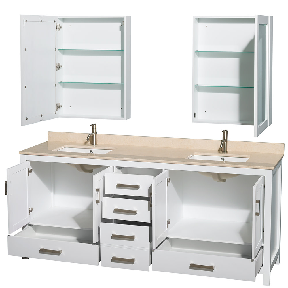 Wyndham-Collection-WCS141480DUNSMED-Sheffield-80-034-Freestanding-Vanity-Set-with thumbnail 4