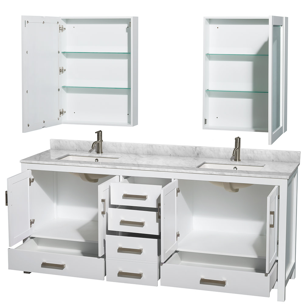 Wyndham-Collection-WCS141480DUNSMED-Sheffield-80-034-Freestanding-Vanity-Set-with thumbnail 3