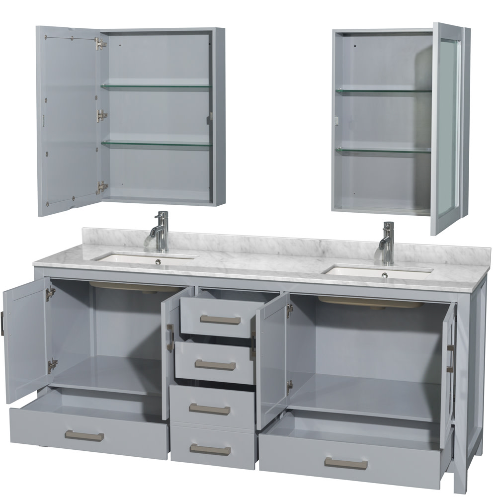 Wyndham-Collection-WCS141480DUNSMED-Sheffield-80-034-Freestanding-Vanity-Set-with thumbnail 6