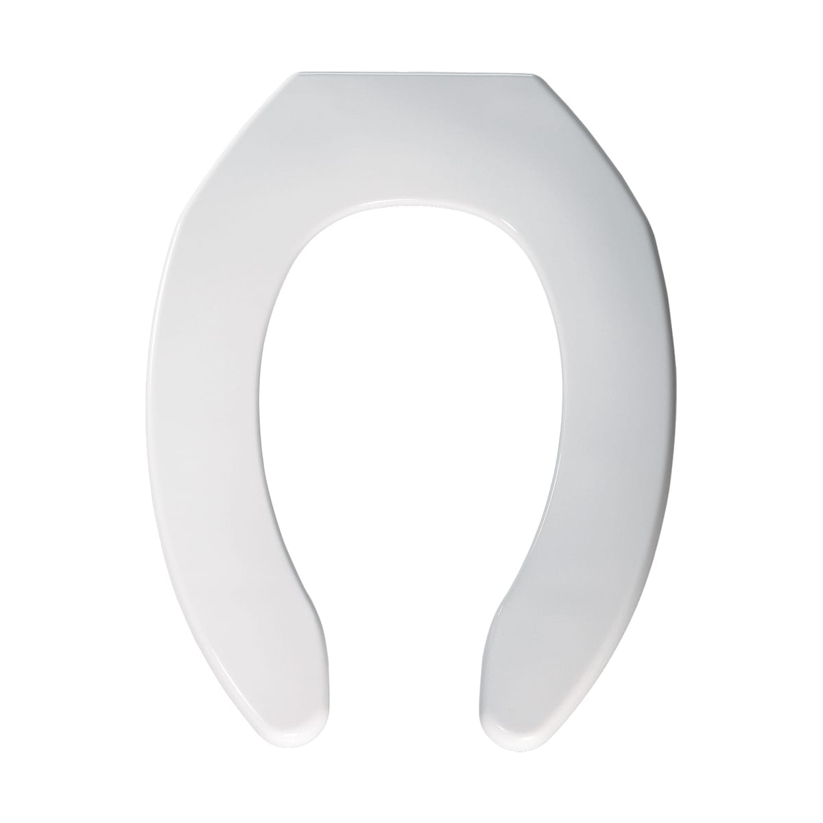 White BEMIS 1055 000 Commercial Heavy Duty Open Front Toilet Seat without Cover