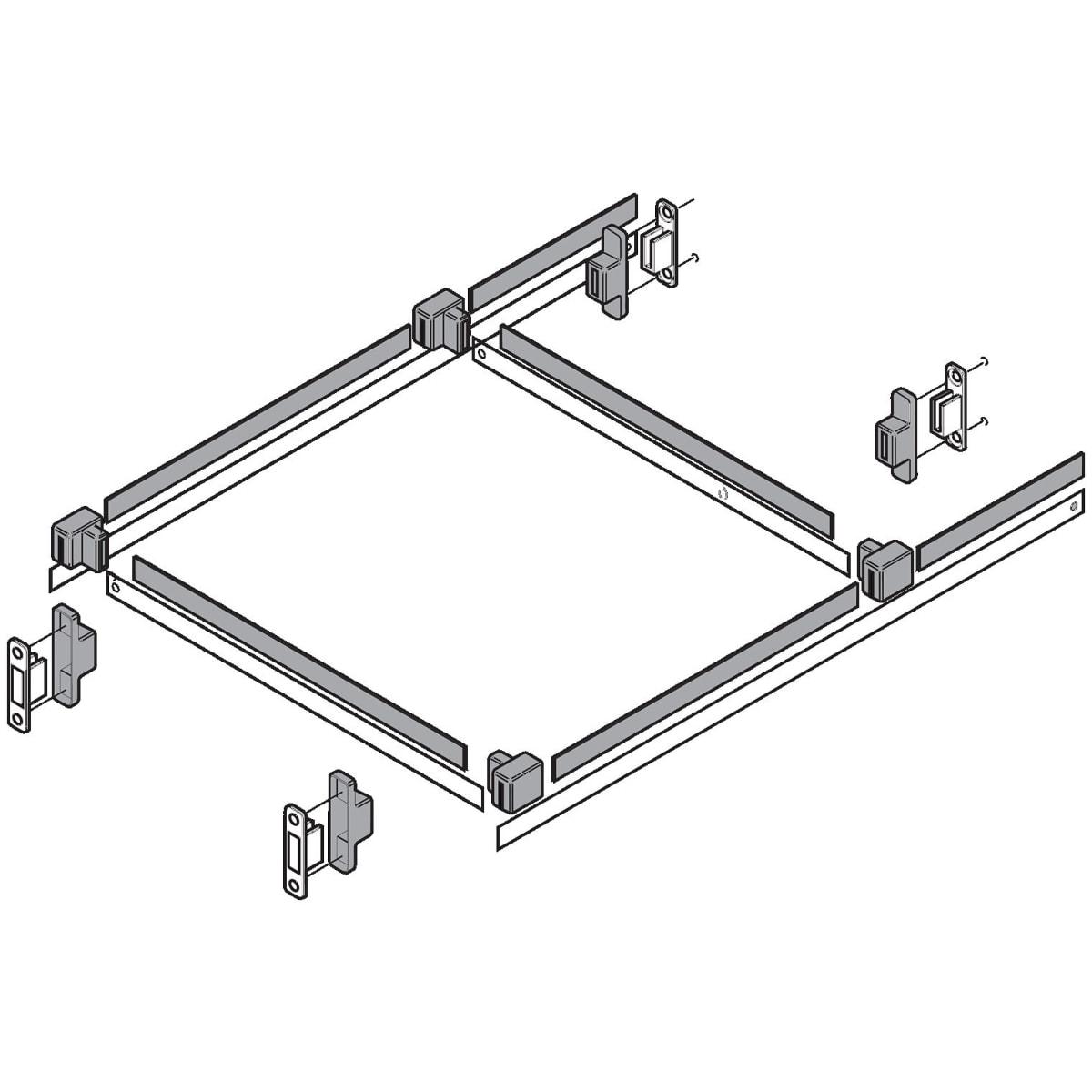 Blum ZRM.0005 METABOX Hanging Rail Support for METAFILE Natural
