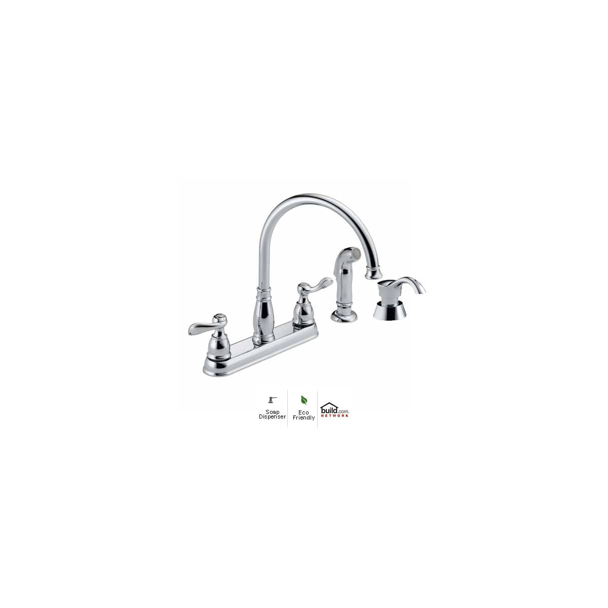 Delta 21996lf Sd Windemere Kitchen Faucet With Build Com