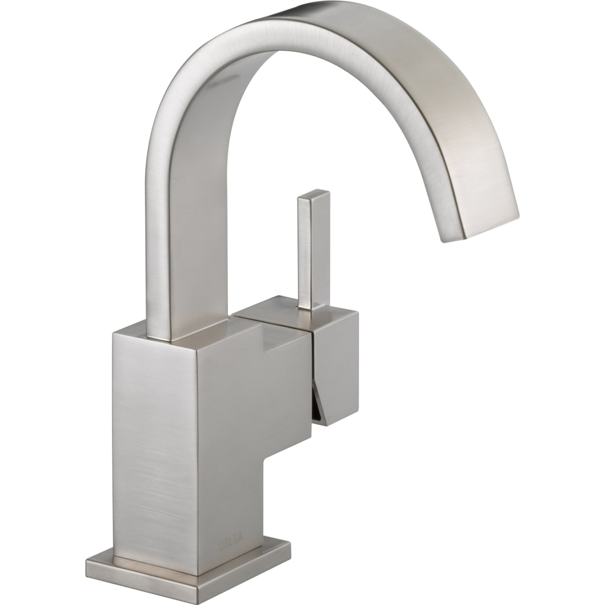 Delta 553lf Ss Vero Single Hole Bathroom Faucet Build Com