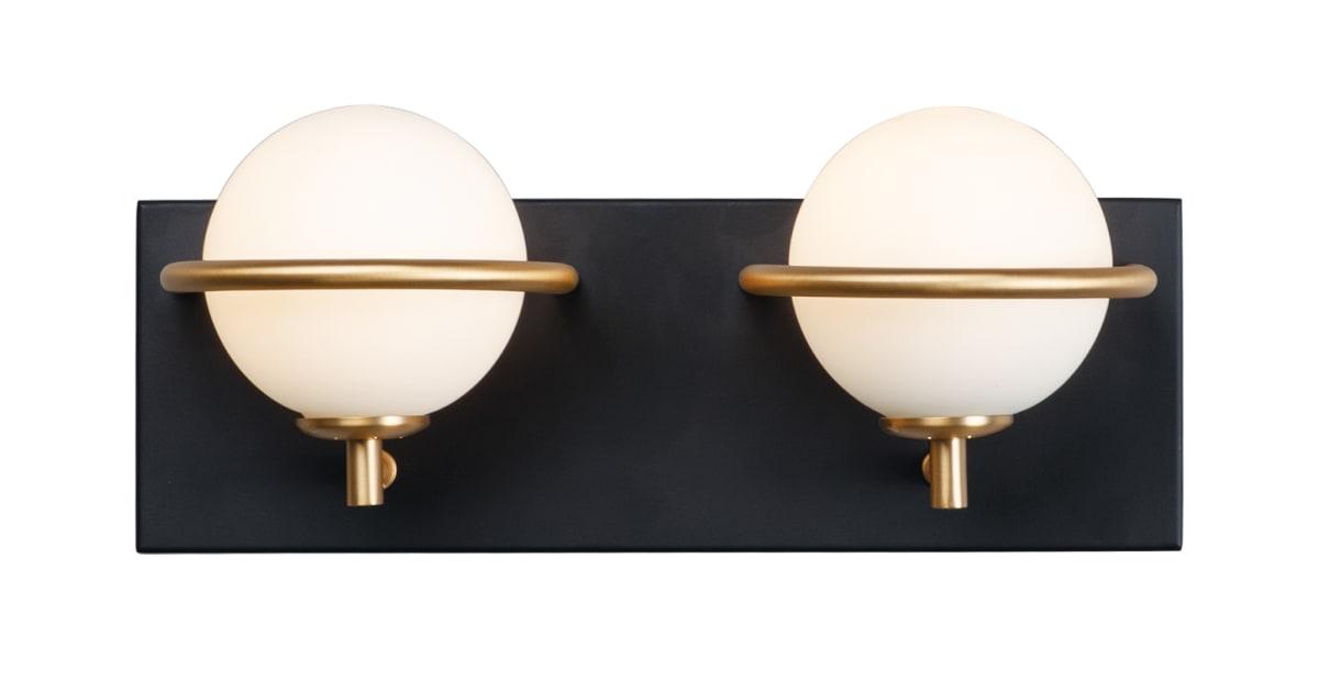 "Shop Maxim Revolve 2 Light 13"" Wide LED Bathroom Vanity Light from Build.com on Openhaus"