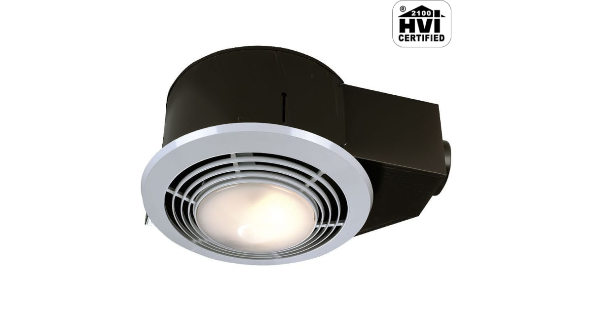 Nutone Qt9093wh 110 Cfm 3 Sone Ceiling, Bathroom Fan And Heater Combo