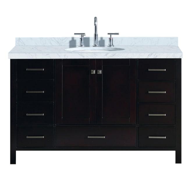 Ariel A055s Vo Esp Cambridge 55 Floor, Espresso Wood Vanity Set