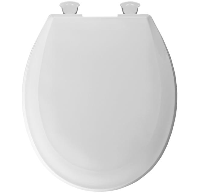 Bemis 100ec 000 Round Plastic Toilet Seat With Build Com