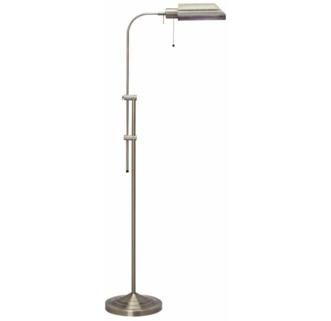 Cal Lighting Bo 117fl Bs 100 Watt 57 5, Antique Brass Metal Adjustable Pole Pharmacy Desk Lamp