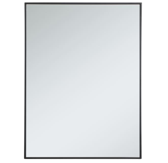 Elegant Lighting Mr43040bk Eternity 30, White Bathroom Mirror 30 X 40