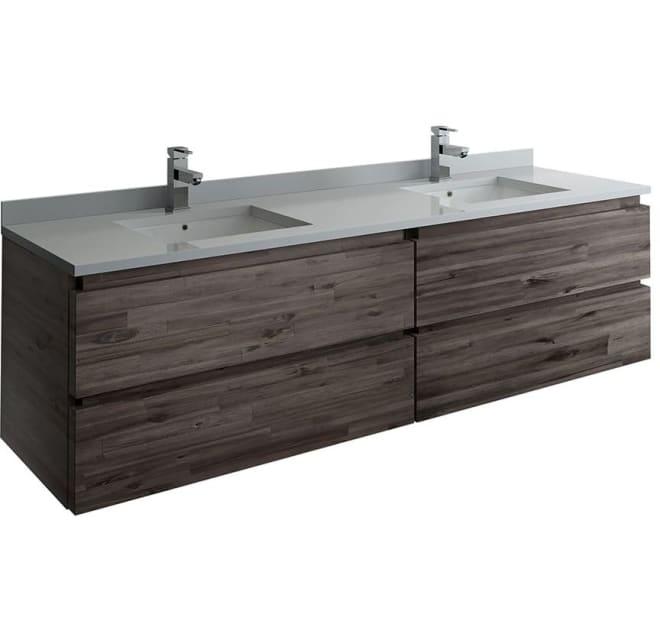 Fresca Fcb31 3636aca Cwh U Formosa 72, Modern Bathroom Vanities For Less